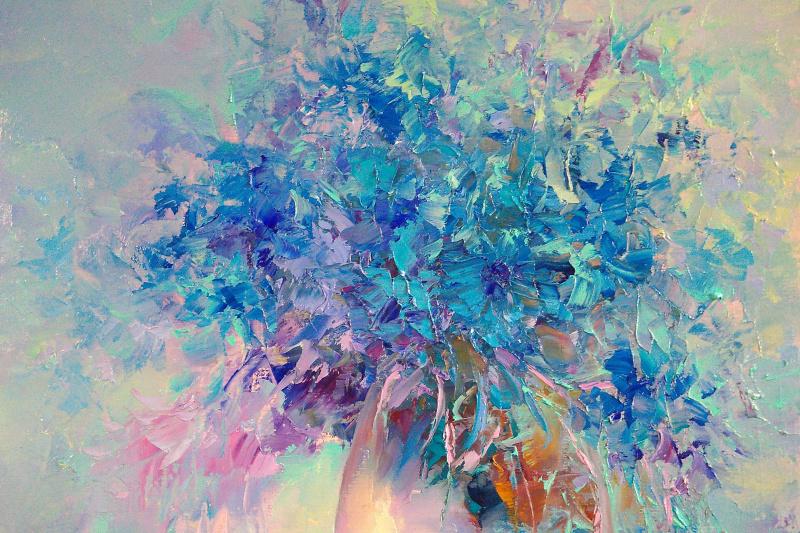 Andrei Ivanovich Boravik. Cornflowers and summer