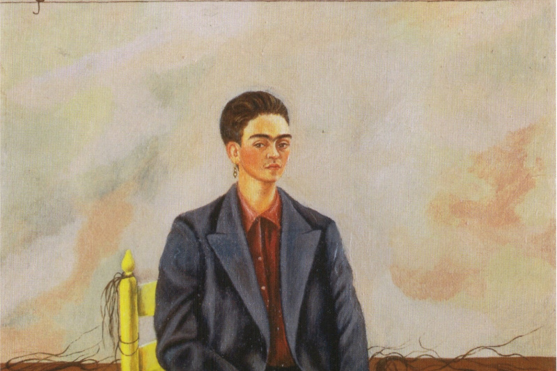 Frida Kahlo. Self-portrait with cropped hair