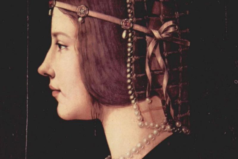 Шедевры  неизвестных художников. Портрет молодой женщины (предположительно - Беатриче д`Эсте)