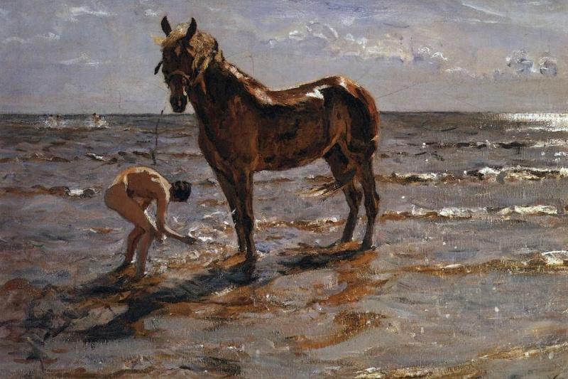Валентин Александрович Серов. Купание лошади