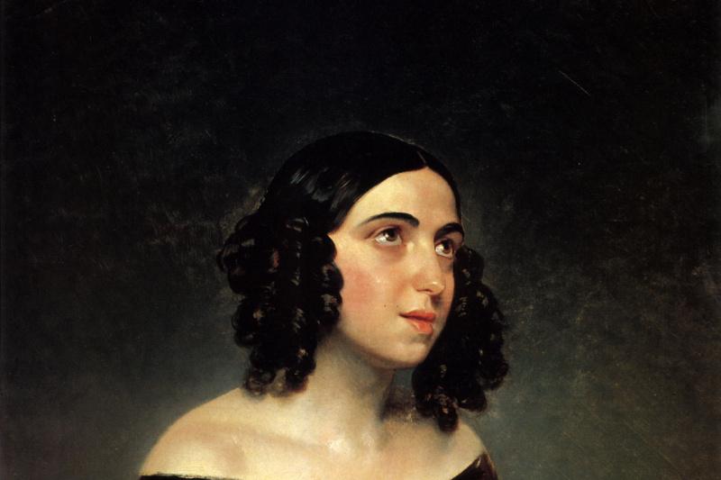 Karl Pavlovich Bryullov. Portrait of singer A. Y. Petrova