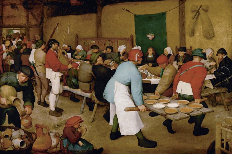 Pieter Bruegel The Elder. Peasant wedding