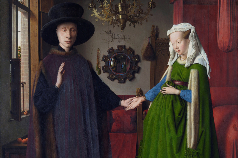 Jan van Eyck. Portrait of Arnolfini couple