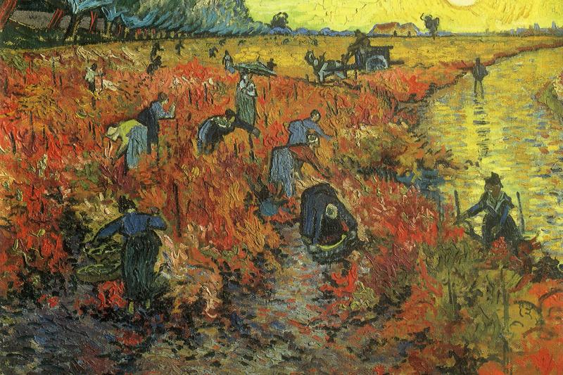 Винсент Ван Гог. Красные виноградники в Арле. Монмажор