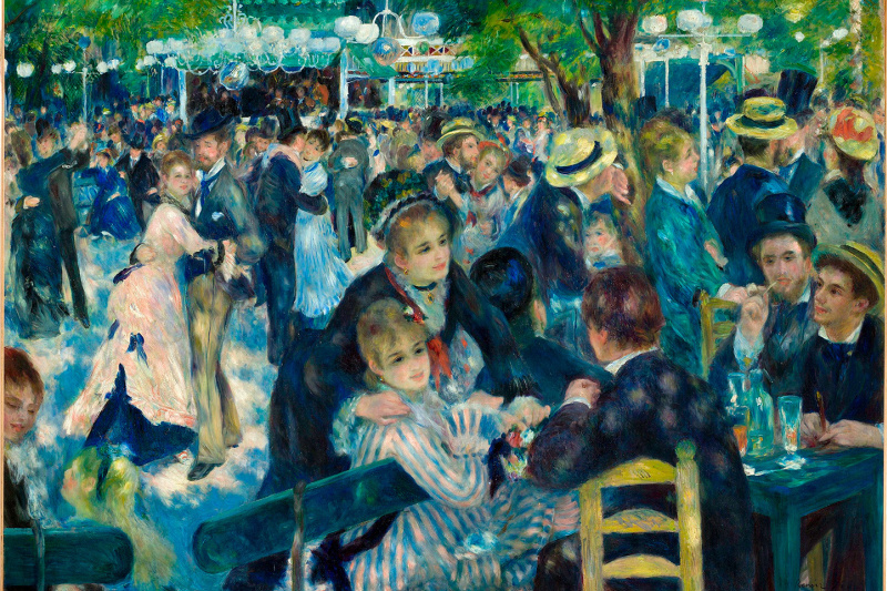 Pierre-Auguste Renoir. Ball at the Moulin de La Galette