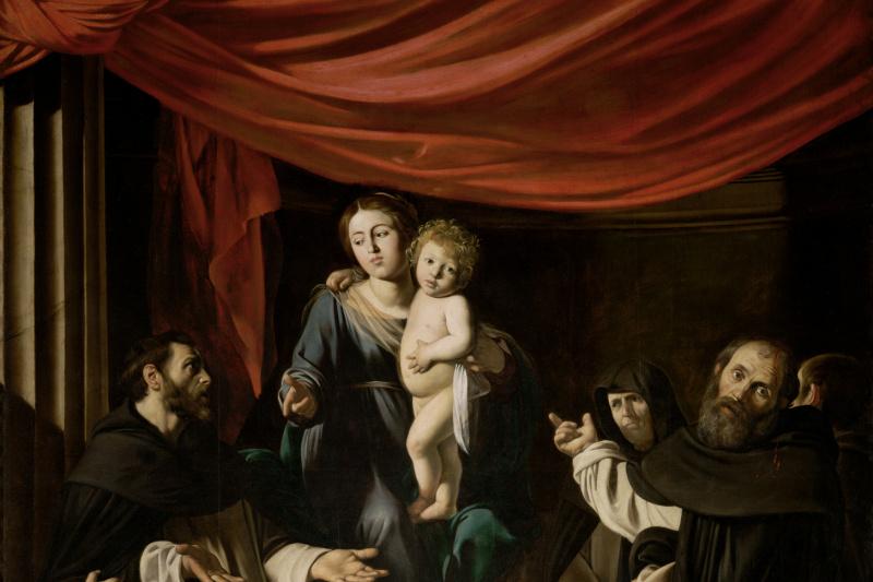 Michelangelo Merisi de Caravaggio. Madonna of the Rosary