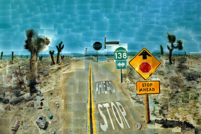 David Hockney. Pearblossom highway, 11-18 April 1986