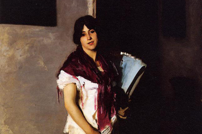 John Singer Sargent. Venetian with a fan