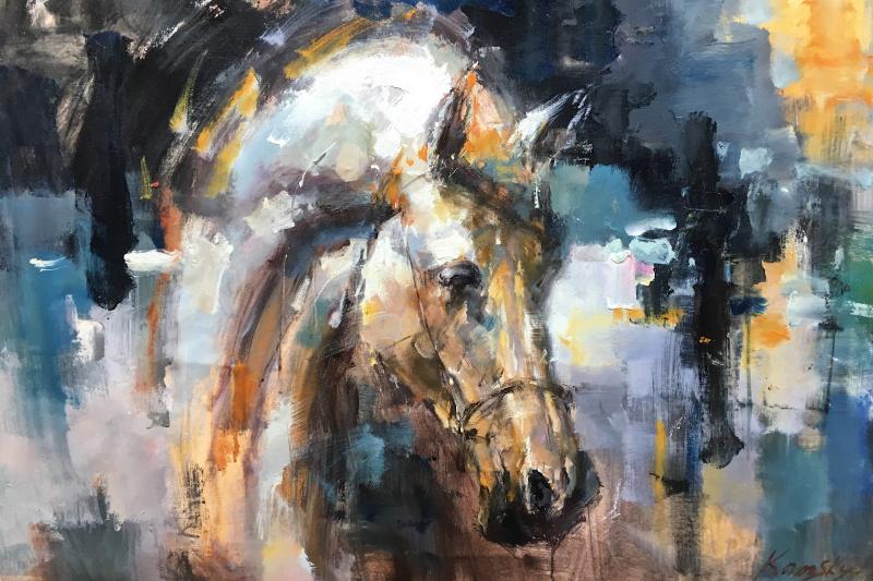 Savely Kamsky. Horse. Portrait of N1