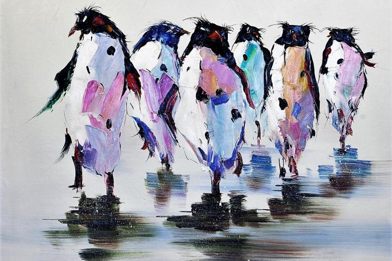 "(no name). ""King penguin. Unhurried walk ..."""