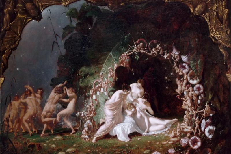 Ричард Дадд. Sleeping titania