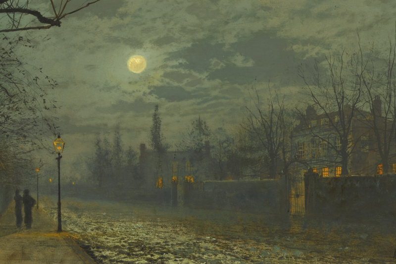 John Atkinson Grimshaw. Walk under the moon