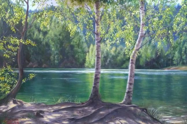 Juliana Strely. Лесное озеро