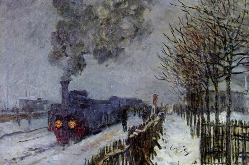 Claude Monet. Train in the snow (the locomotive)