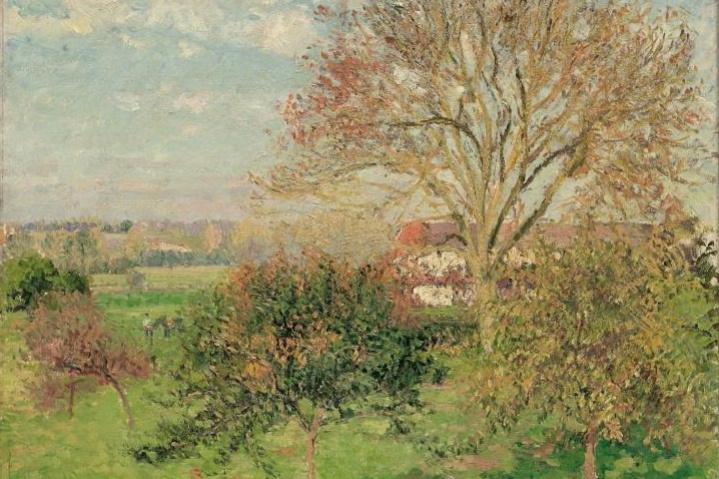 Camille Pissarro. Autumn morning at Eragny