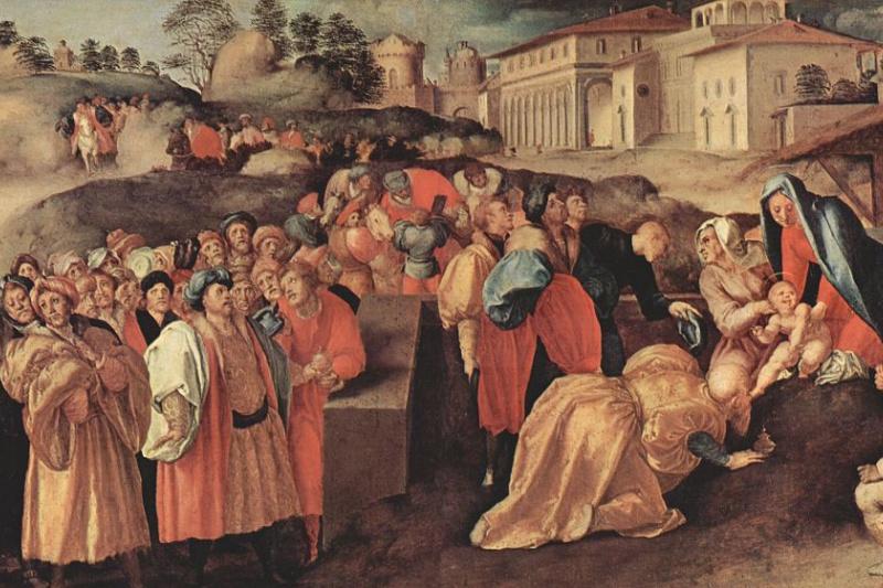 Jacopo Pontormo. Adoration of the Magi