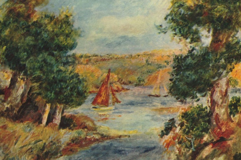 Pierre-Auguste Renoir. Sailing boats in Caen