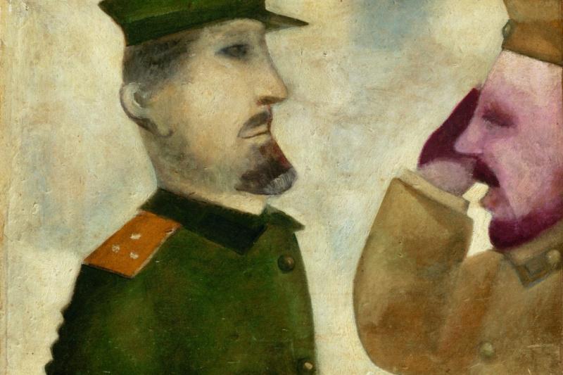 Марк Захарович Шагал. Солдат, отдающий честь