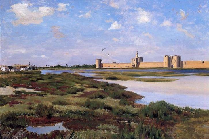 Frédéric Bazille. The landscape in Ages-Mortes
