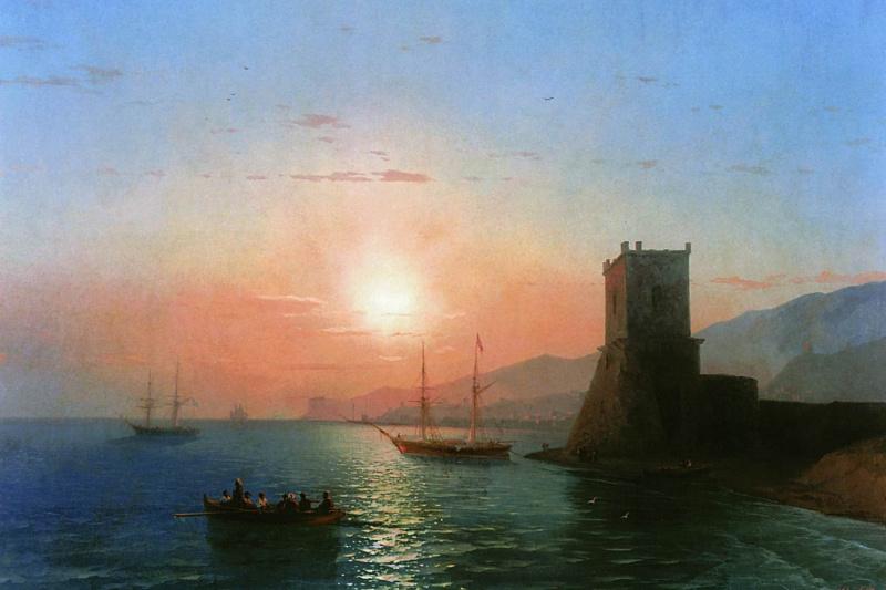 Ivan Aivazovsky. Theodosius. Sunset