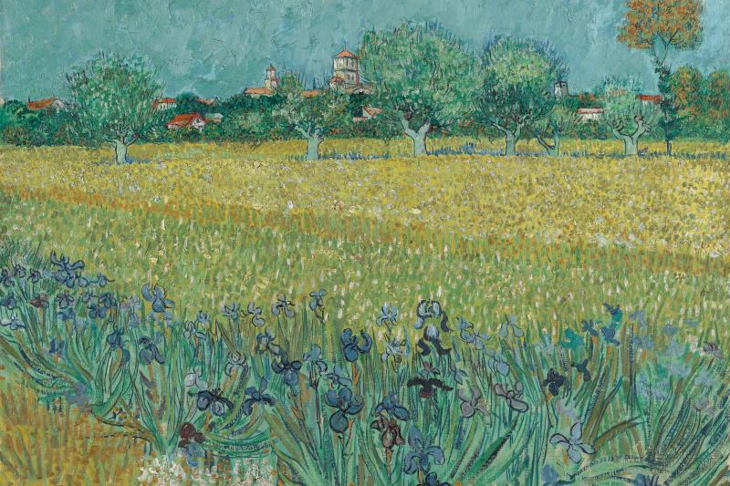 Vincent van Gogh. View of Arles with irises