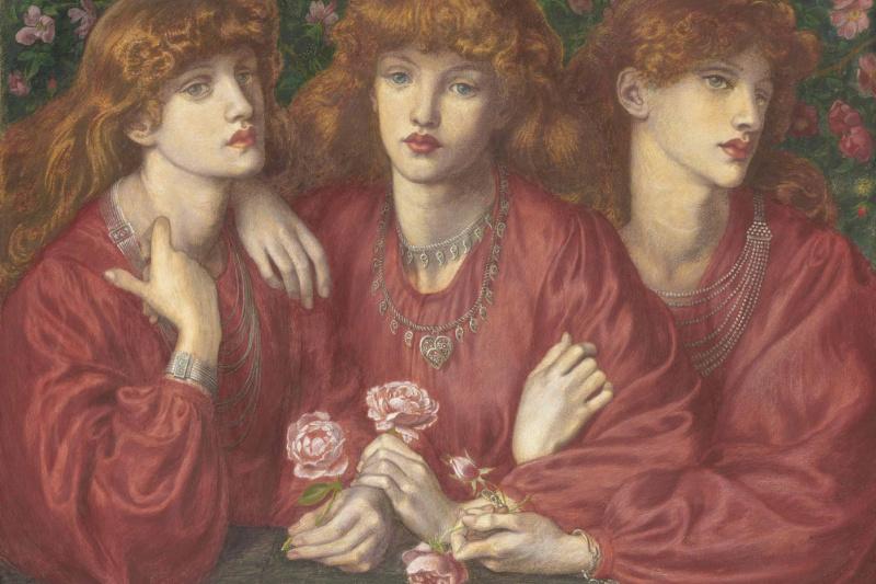 Dante Gabriel Rossetti. Three Roses