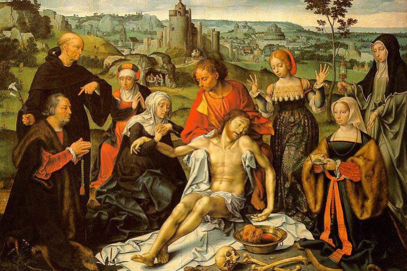 Jos van Kleve. The altar the lamentation of Christ