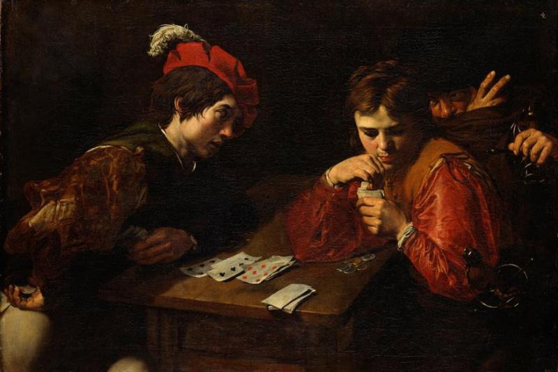 Valentine de Boulogne. Card tricksters