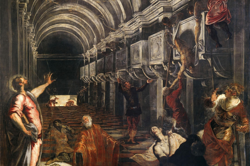 Jacopo (Robusti) Tintoretto. Finding the Relics of the Apostle Mark