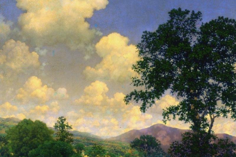 Maxfield Parrish. Sky of June