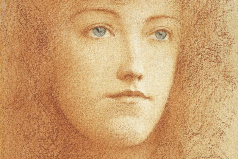 Fernand Knopf. Portrait of Elise Marquet