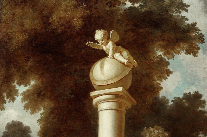 """Jean Honore Fragonard. Dreams. From series of paintings """"Love adventure"""""""