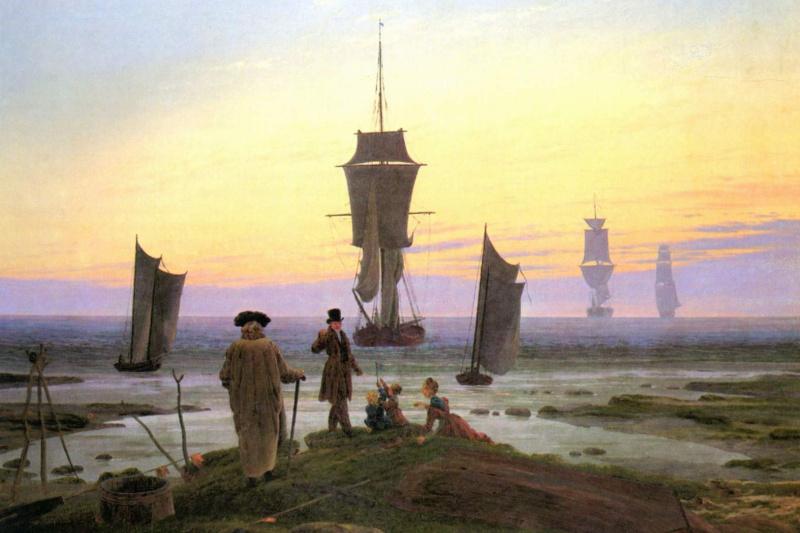 Caspar David Friedrich. View of the sea coast in Vic