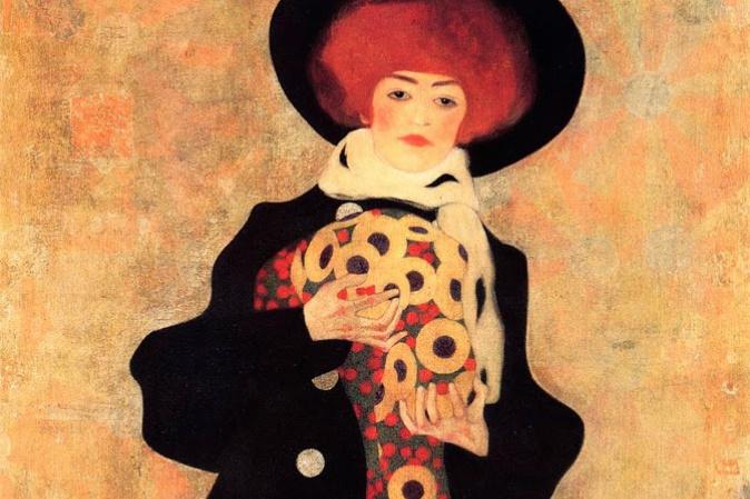 Egon Schiele. Woman in black hat