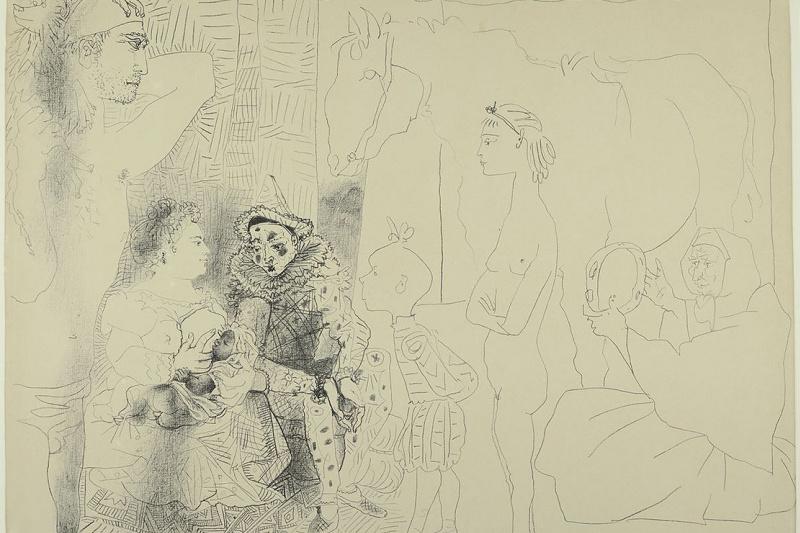 Пабло Пикассо. Семья комедианта