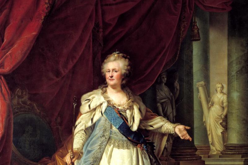 Johann Baptist Lumpy (older). Portrait of Empress Catherine II