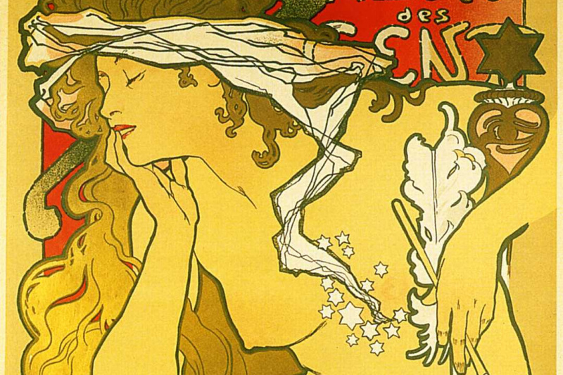 """Alfons Mucha. Promotional poster of the exhibition """"Salon of the Hundred"""""""