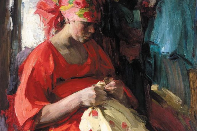 Abram Arkhipov. Russian beauty for embroidery