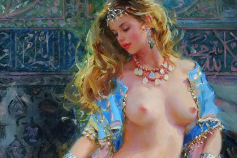 Constantine Razumov. The girl with Golden veil.