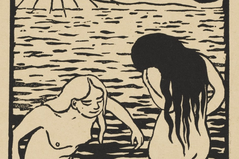 Felix Vallotton. Three bathers