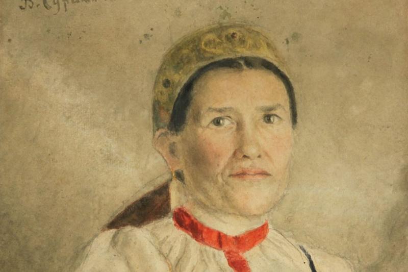 Vasily Ivanovich Surikov. The woman