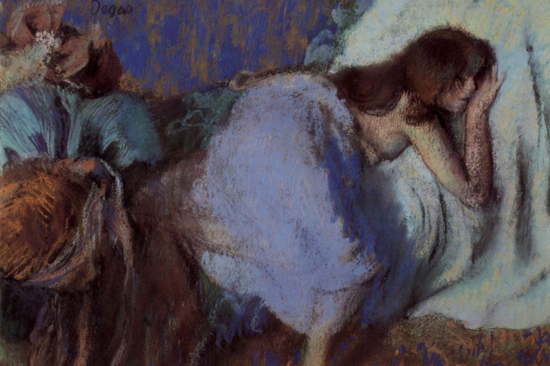 Edgar Degas. Girl resting on bed