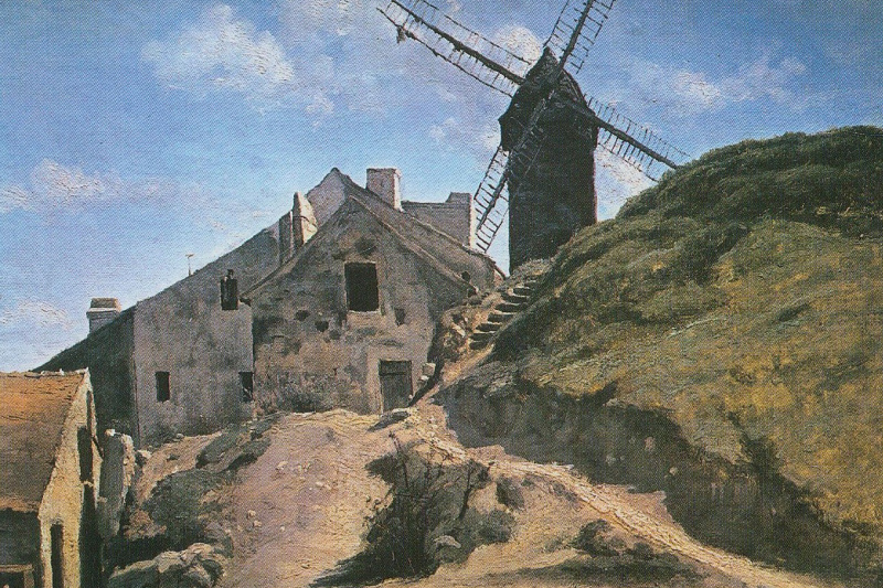 Camille Corot. Mill in Montmartre
