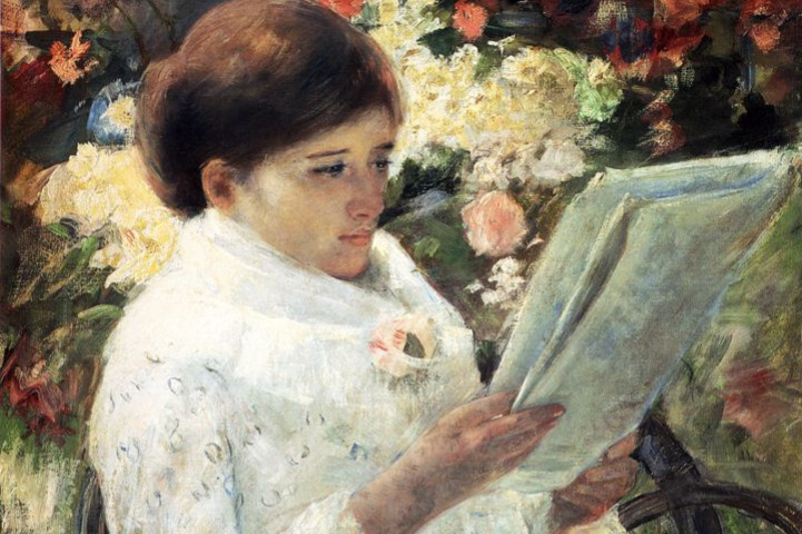 Mary Cassatt. Woman reading in a garden