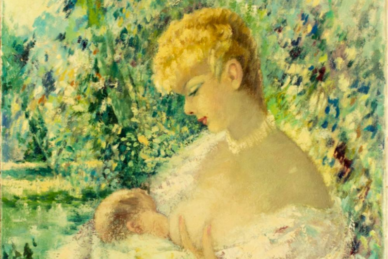 Margarita Aers. Feeding baby