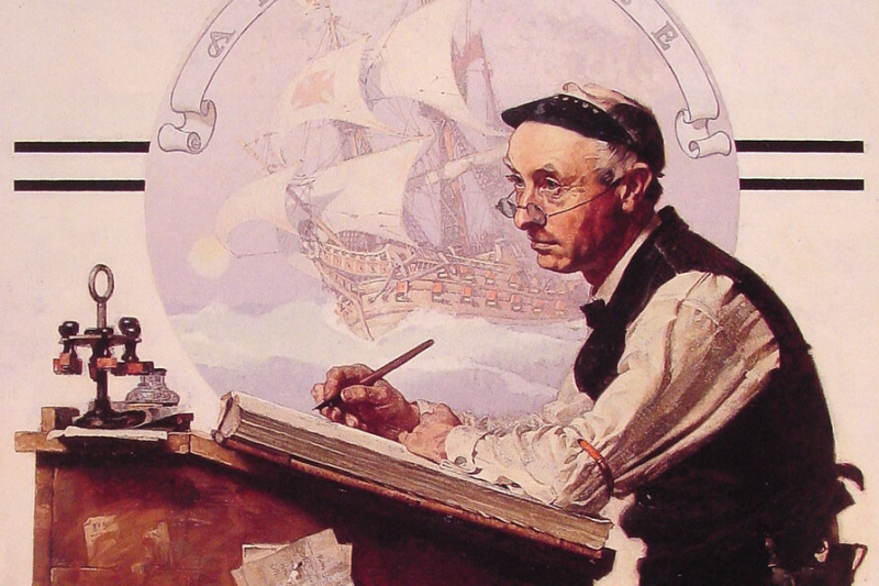 Norman Rockwell. Dream accountant
