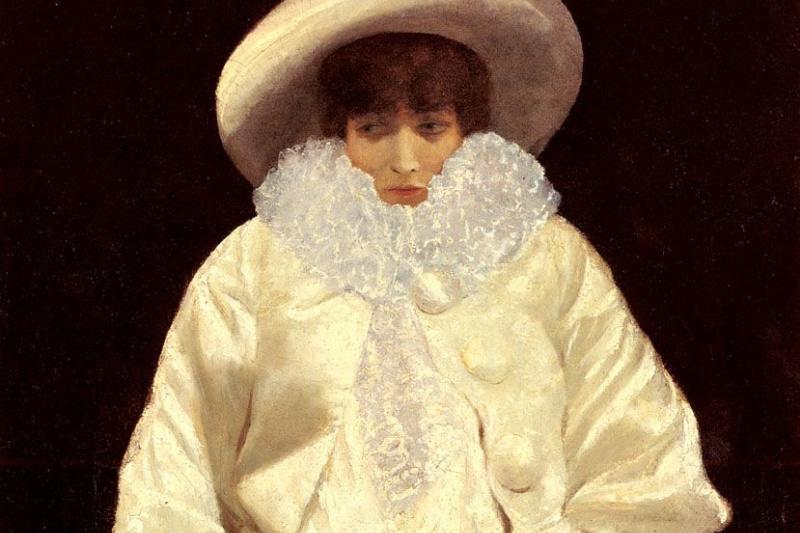 Giuseppe de Nittis. Sarah Bernhardt in the character of Pierrot