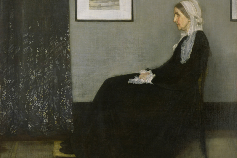 James Abbot McNeill Whistler. Arrangement in grey and black No. 1. The artist's mother