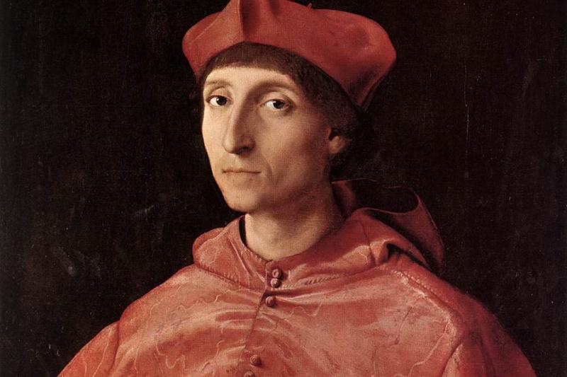 Рафаэль Санти. Портрет кардинала