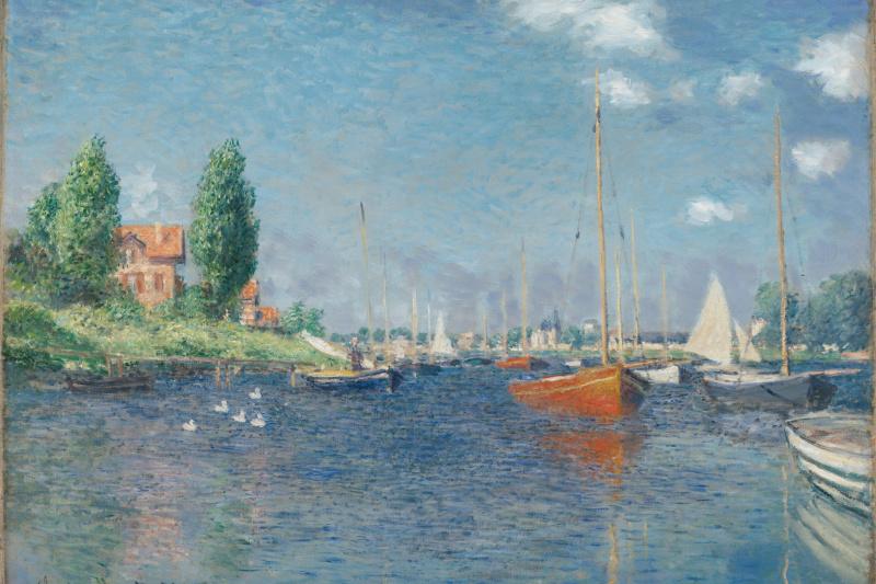 Claude Monet. Red boats, Argenteuil